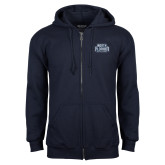 Navy Fleece Full Zip Hoodie-North Florida Ospreys