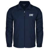 Full Zip Navy Wind Jacket-UNF Monogram