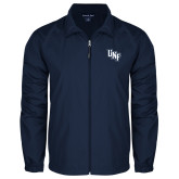 Full Zip Navy Wind Jacket-Diagonal UNF Monogram