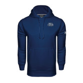 Under Armour Navy Performance Sweats Team Hoodie-North Florida Ospreys