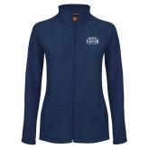 Ladies Fleece Full Zip Navy Jacket-North Florida Ospreys