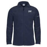 Columbia Full Zip Navy Fleece Jacket-UNF Monogram