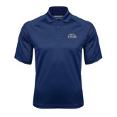 Navy Textured Saddle Shoulder Polo-North Florida Ospreys