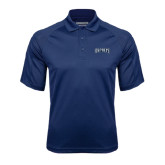 Navy Textured Saddle Shoulder Polo-Ospreys Word Mark