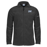 Columbia Full Zip Charcoal Fleece Jacket-UNF Monogram