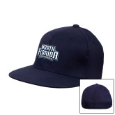 Navy OttoFlex Flat Bill Pro Style Hat-North Florida Ospreys