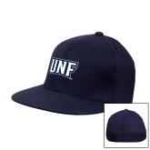Navy OttoFlex Flat Bill Pro Style Hat-UNF Monogram