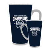 Full Color Latte Mug 17oz-2017 ASUN Conference Womens Tennis Champions Back To Back