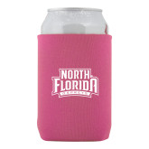 Collapsible Hot Pink Can Holder-North Florida Ospreys