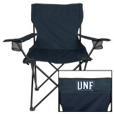 Deluxe Navy Captains Chair-UNF Monogram