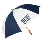 62 Inch Navy/White Umbrella-UNF Monogram
