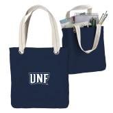 Allie Navy Canvas Tote-UNF Monogram