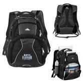 High Sierra Swerve Black Compu Backpack-North Florida Ospreys