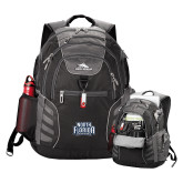 High Sierra Big Wig Black Compu Backpack-North Florida Ospreys