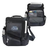 Momentum Black Computer Messenger Bag-North Florida Ospreys