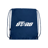 Navy Drawstring Backpack-Upward Stars