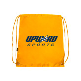 Nylon Gold Drawstring Backpack-Upward Sports