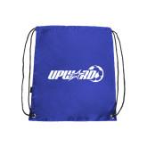 Nylon Royal Drawstring Backpack-Upward Soccer