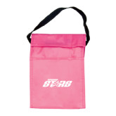 Koozie Pink Lunch Sack-Upward Stars