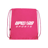 Nylon Pink Drawstring Backpack-Upward Sports