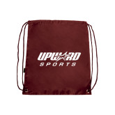 Nylon Maroon Drawstring Backpack-Upward Sports