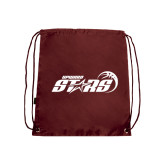 Nylon Maroon Drawstring Backpack-Upward Stars Basketball