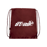Maroon Drawstring Backpack-Upward Stars Volleyball