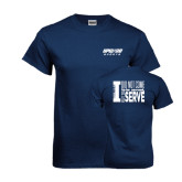 Navy T Shirt-Upward Sports