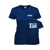 Ladies Navy T Shirt-Upward Sports