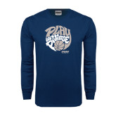 Navy Long Sleeve T Shirt-Upward Sports Play With Purpose Basketball