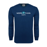 Navy Long Sleeve T Shirt-More Than a Game Basketball