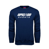 Navy Fleece Crew-Upward Sports