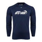 Under Armour Navy Long Sleeve Tech Tee-Upward Stars Basketball