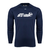 Under Armour Navy Long Sleeve Tech Tee-Upward Stars Volleyball