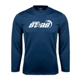 Performance Navy Longsleeve Shirt-Upward Stars Basketball