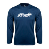 Performance Navy Longsleeve Shirt-Upward Stars Volleyball