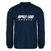 V Neck Navy Raglan Windshirt-Upward Sports
