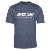 Performance Navy Heather Contender Tee-Upward Sports
