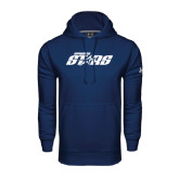 Under Armour Navy Performance Sweats Team Hood-Upward Stars