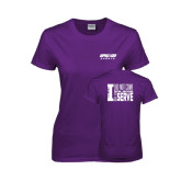 Ladies Purple T Shirt-Upward Sports