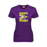 Ladies Purple T Shirt-More Than