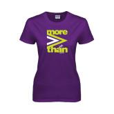 Ladies Purple T Shirt-More Than