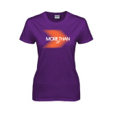 Ladies Purple T Shirt-More Than Blury