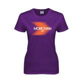 Ladies Purple T Shirt-More Than Blury