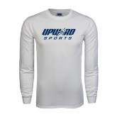White Long Sleeve T Shirt-Upward Sports