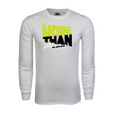 White Long Sleeve T Shirt-More Than Athlete