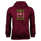 Maroon Fleece Hood-Upward Christmas Shirt