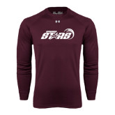 Under Armour Maroon Long Sleeve Tech Tee-Upward Stars Basketball