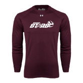 Under Armour Maroon Long Sleeve Tech Tee-Upward Stars Volleyball