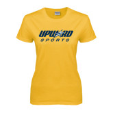 Ladies Gold T Shirt-Upward Sports